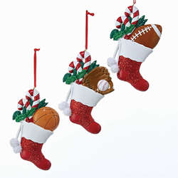 basketballbaseballfootball stocking ornament