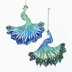 greenblue peacock ornament - Peacock Christmas Decorations