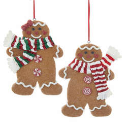 gingerbread girlboy with scarf ornament