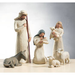 6 piece nativity set - Christmas Mouse Decorations