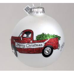 red truck with merry christmas bannerchristmas tree ornament - Christmas Mouse Virginia Beach