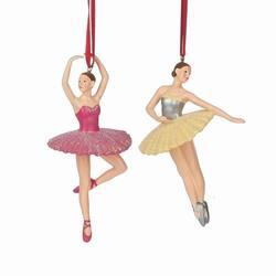 ballerina in pinkyellow dress ornament