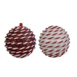 redwhite ball ornament