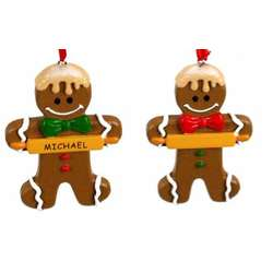 personalizable gingerbread ornament - Gingerbread Christmas Decorations