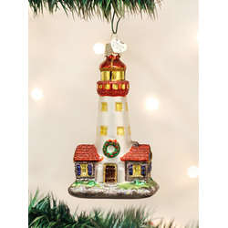 Lighthouse With Keeper's House Ornament