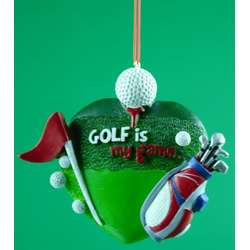 Golf Ornaments - The Christmas Mouse